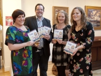 Pic: Jim Campbell. Jenny Winter, Mark O'Mahoney, Tracey Boggan and Orla Nolan pictured at the launch of the Wexford Chamber Wexford Opera Festival Fringe Guide in Greenacres.