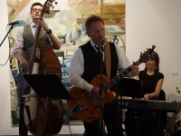 Patrick Hogan - The Featherhead Trio at launch of Wexford Fringe Festival guide September 2013 (Copy)