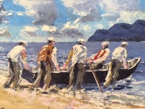 Silver Fox Seafood Restaurant, Kilmore Quay Oil Painting Exhibition, by Ivan Sutton @ Kilmore Quay, Wexford