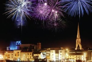 Wexford Festival Opera Opening Ceremony Fireworks Display @ Wexford Quay Front
